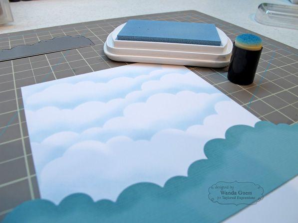 steps to making a soft blue sky background - tutorial - bjl