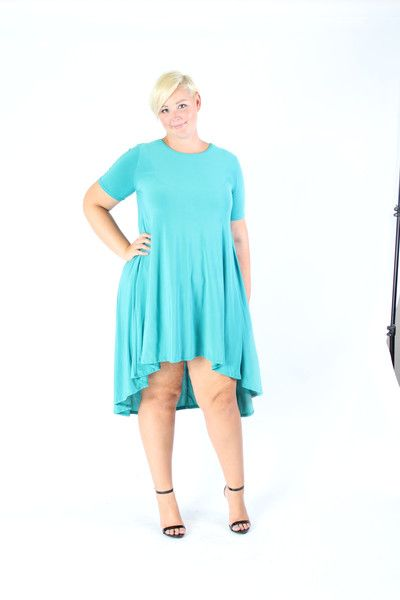 Plus Size Clothing for Women - Super Stretchy Jade High Low Dress (Sizes 14 - 22) - Society+ - Society Plus - Buy Online Now!