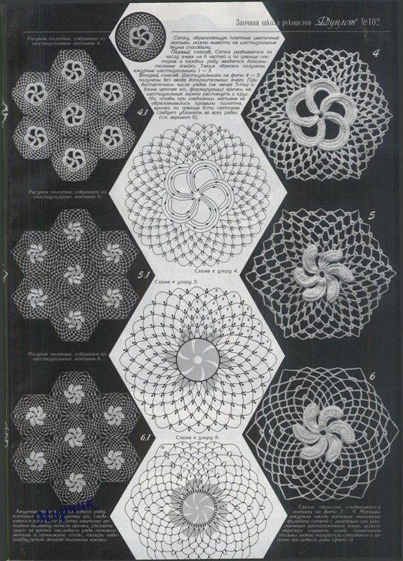 Patrones Crochet Flores Espirales - Patrones Crochet | Irish Crochet ...
