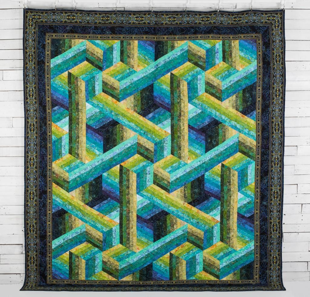 Rjr Malam Batiks Catwalk By Jinny Beyer Quilt Kit Quilting Kit Includes Fabric Pattern Optical Illusion Quilts Quilts Quilt Kit