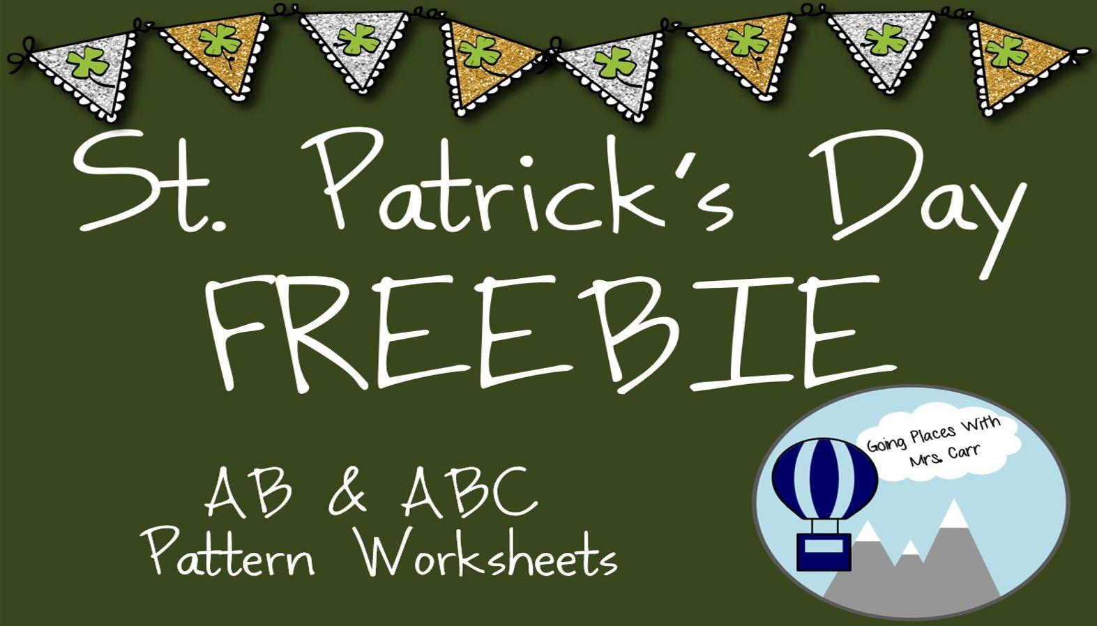 St Patrick S Day Ab Amp Abc Patterns Freebie