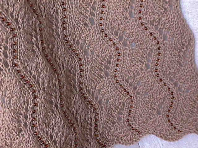 Simple Lace Knitting Pattern For Scarf : basic knitting patterns of a simple to knit swirly lace rectangular scarf. ...