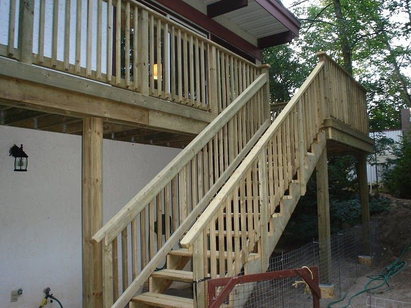 how to build wood patio steps