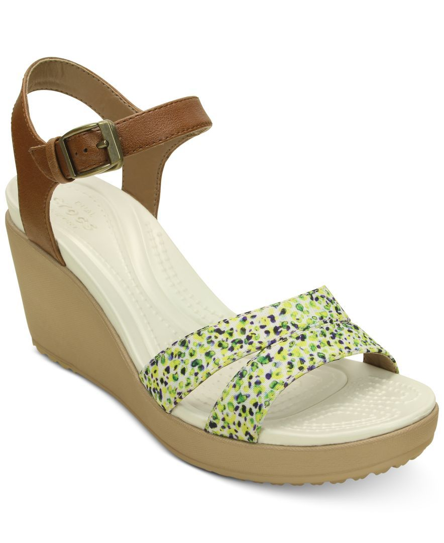 8c79033d2ae Crocs Women s LeighII Ankle Strap Graphic Wedge Croc wedges are theeeeee  most comfortable shoe ever!
