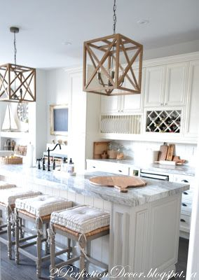 PerfectionDecorblogspotca Farmhouse Kitchen Revealwood Pendants - Large island pendants