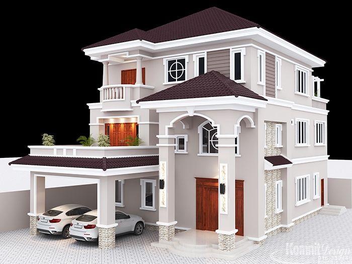 VGK009 Exterior Villa Projects Komnit Rachna Duplex