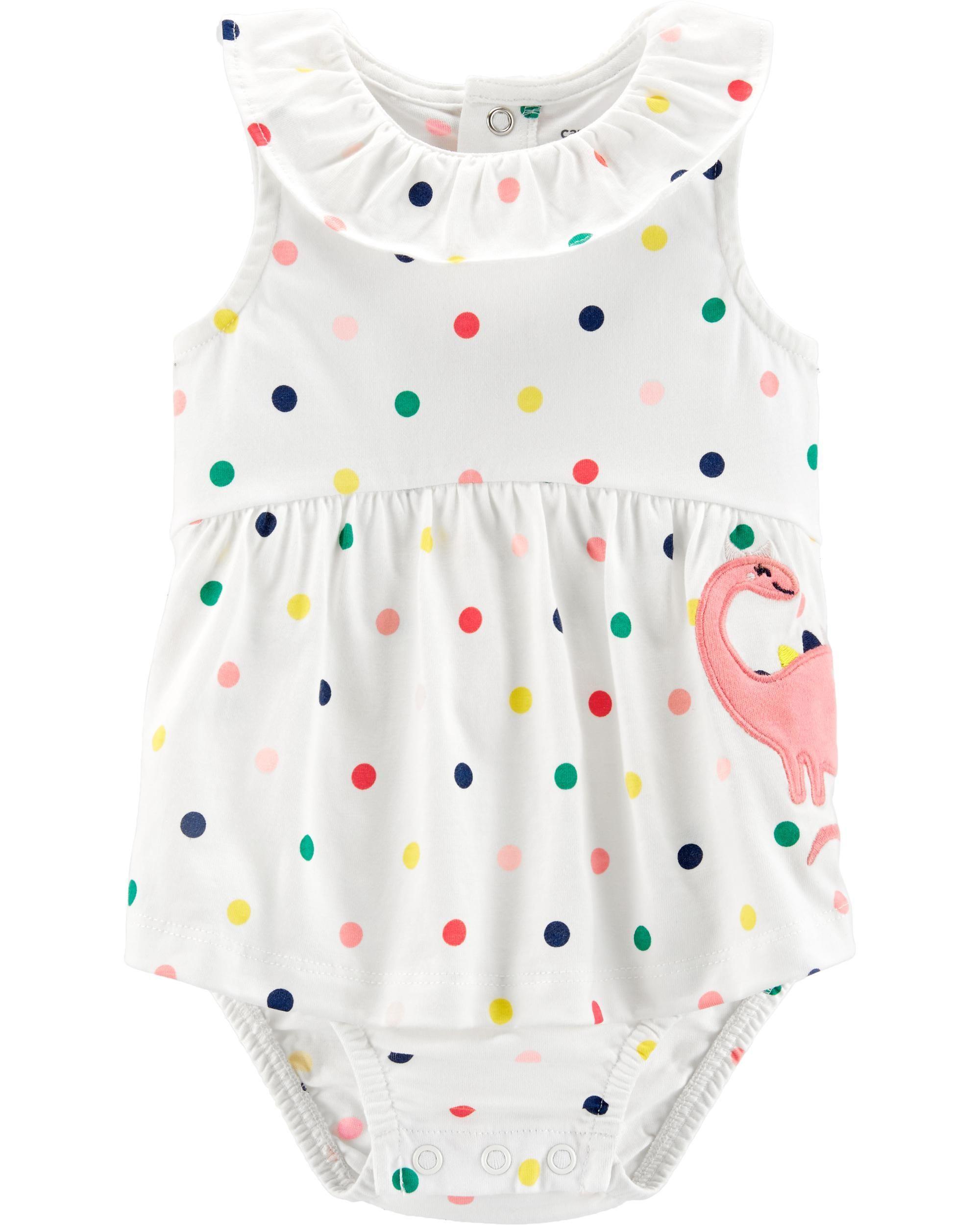 Baby Girl Carter/'s Rainbow Print Sunsuit