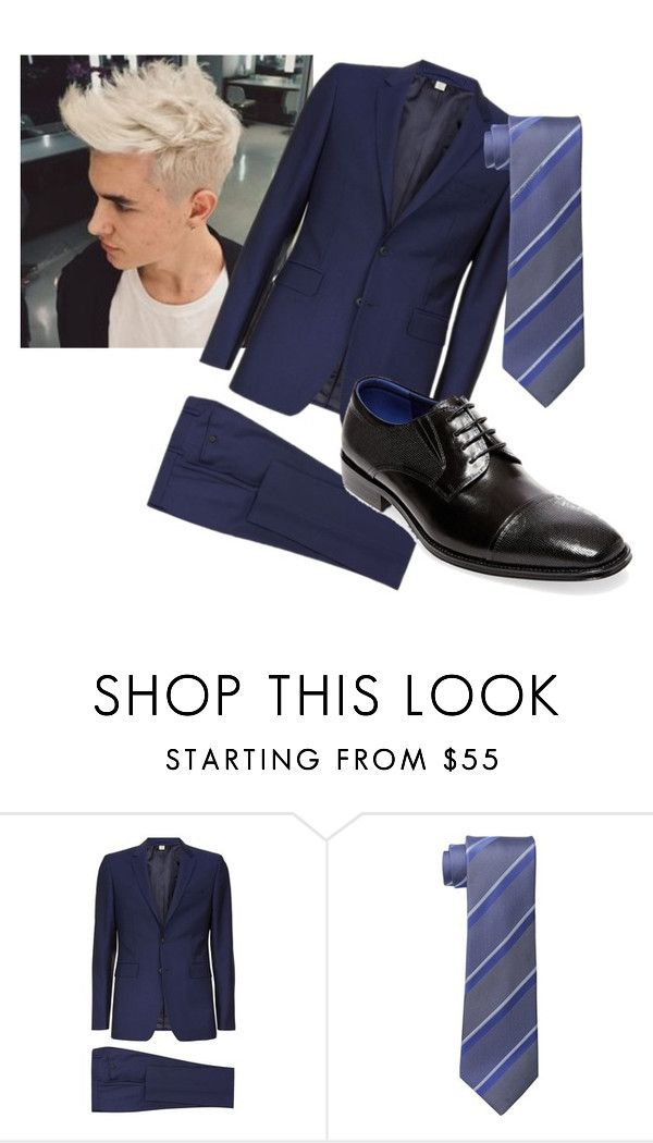 """him"" by drea97-1 on Polyvore featuring Burberry, Kenneth Cole Reaction, Steve Madden, men's fashion and menswear"
