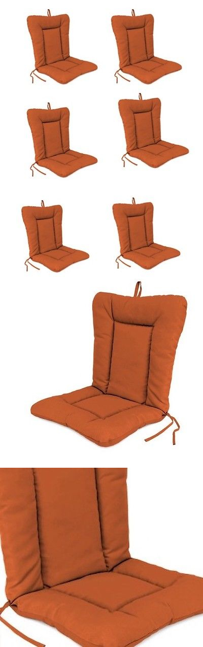 Cushions And Pads 79683: Burnt Orange Outdoor Replacement Cushion Set Of 4 Chair  Pads Dining