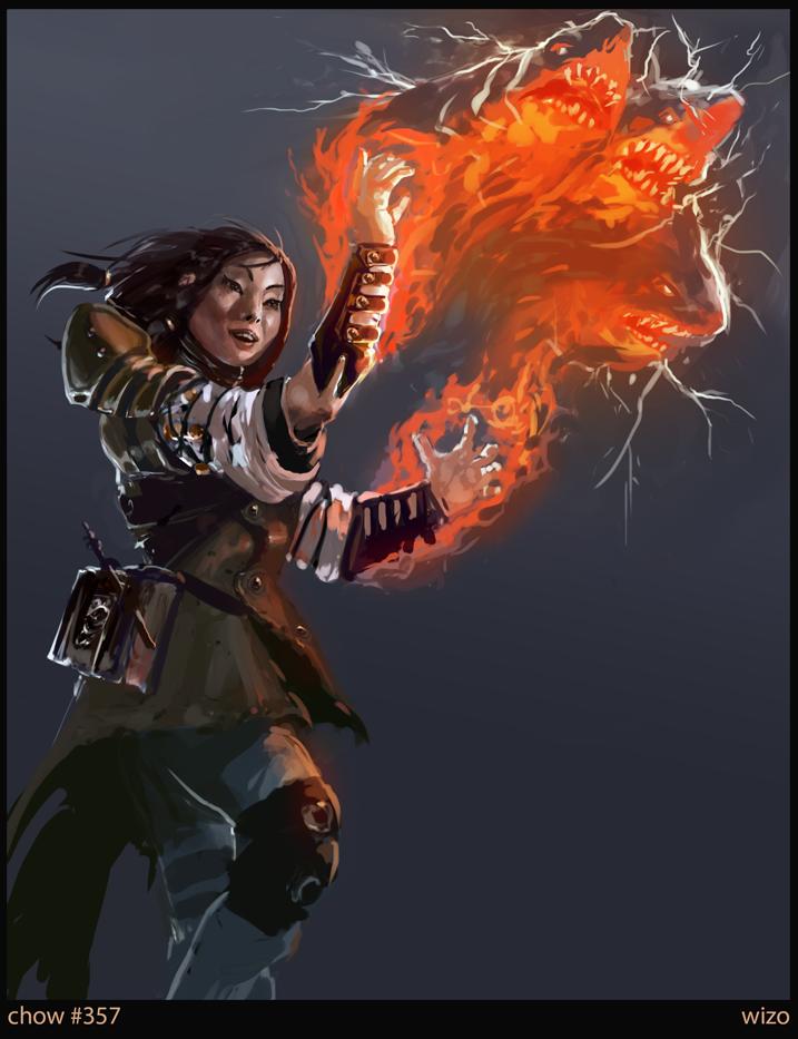 Chow357 Apprentice Wizard By Slabreche Fantasy Art