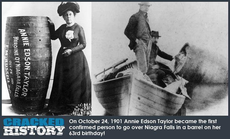 Η γυναίκα που πήδηξε με βαρέλι στους Καταρράχτες του Νιαγάρα