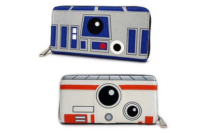 Camera Caché Star Wars : Star wars r2 d2 and bb 8 2 sided big face zip around wallet r2 d2