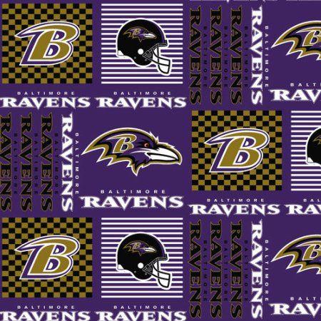 NFL Baltimore Ravens Cotton Fabric