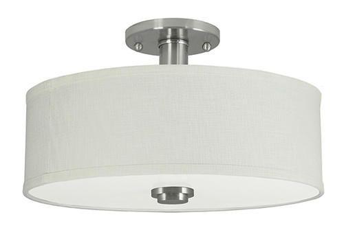 Brushed Nickel Semi Flush Ceiling Light: Semi-Flush Mount Ceiling Light Model Number: | Menards® SKU: 3485002  Variation: Brushed Nickel,Lighting