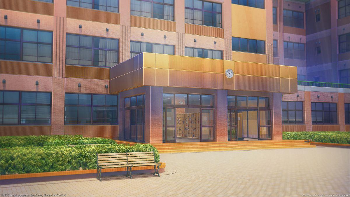 高等学校 [2] アニメの風景, 建物, 背景画