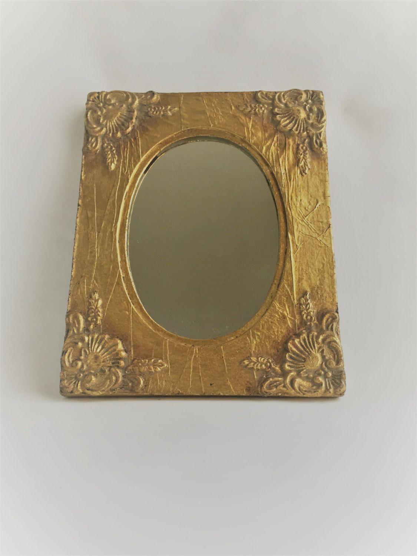 9421ba0554ce  18 vintage gold framed mirror ornate gold mirror oval small gold mirror  gold frame with mirror decorative bathroom mirror small mirror by ...
