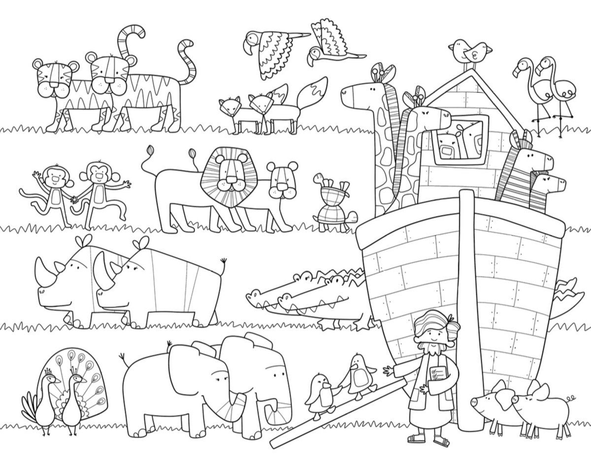 Noah S Ark Coloring Mat Free Coloring Pages Coloring Pages
