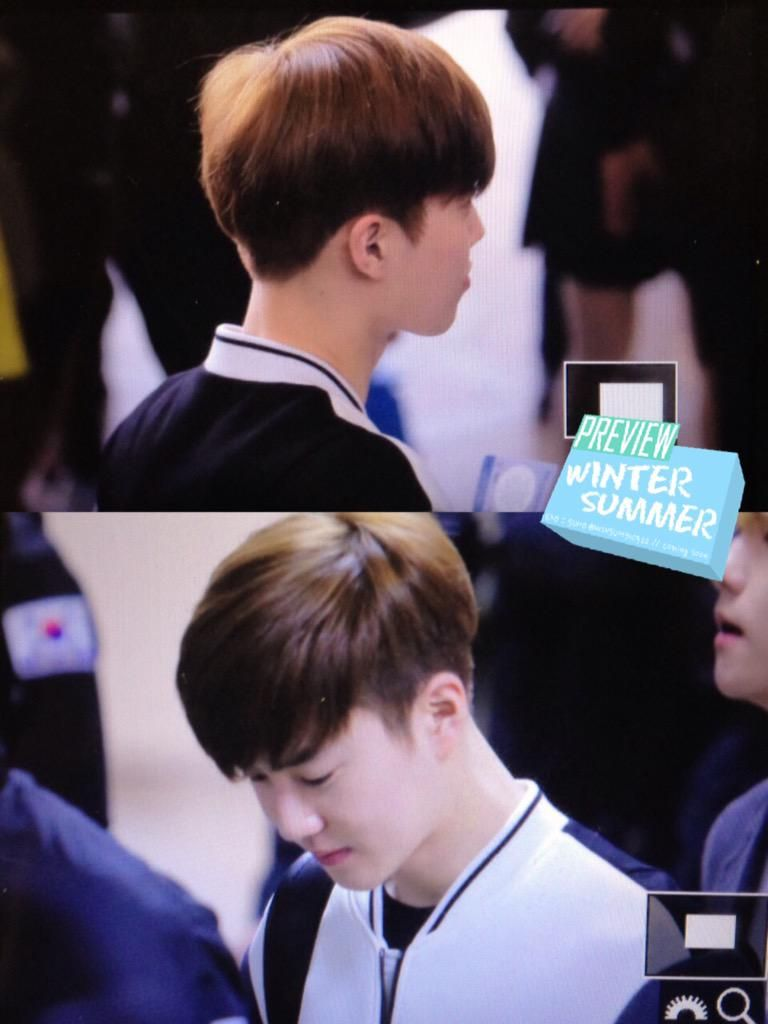 Suho - 150408 Gimpo Airport, departing for Beijing Credit: Winter Summer. (김포공항 출국)
