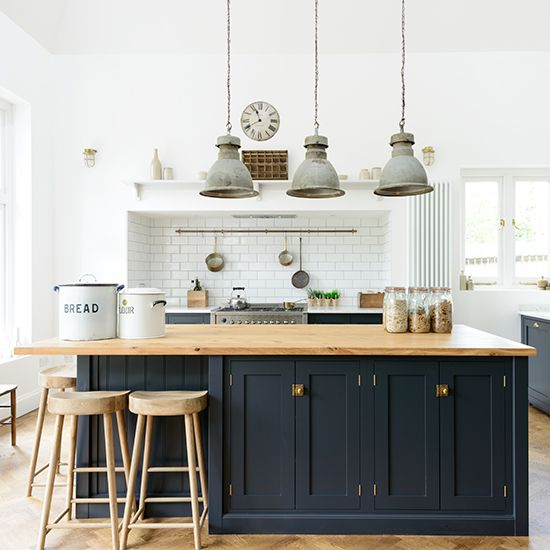 devol-kent-realshaker-homes-gardens in 2019 | Blue kitchen ...