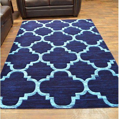 Ivy Bronx Mccampbell 3d Navy Blue Area Rug Rug Size Rectangle 5 X 7 Area Rugs Teal Area Rug Beige Area Rugs