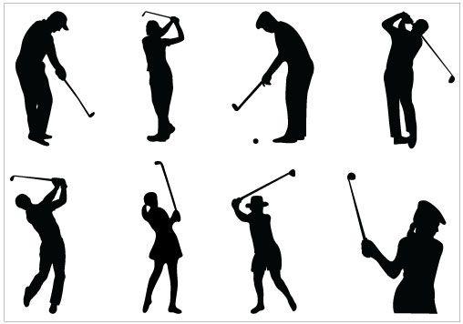 Golf Silhouette Clip Art Pack Template Silhouette Clip Art