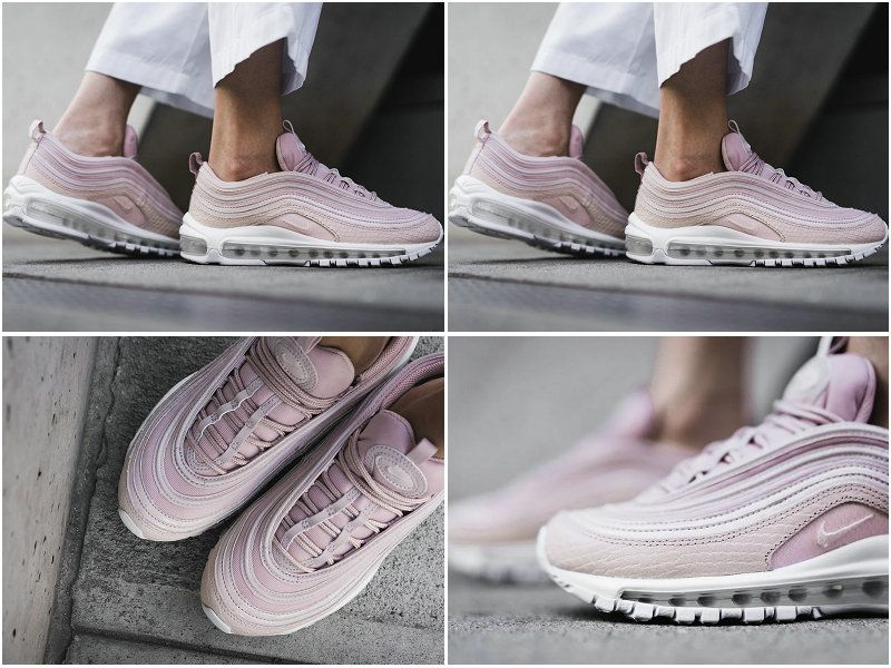 2017 2018 Hot Sale Nike Air Max 97 Premium Pink Snakeskin