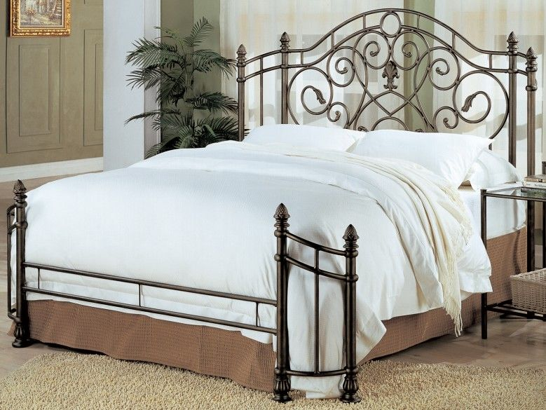 Beckley Queen Iron Bed With Images Iron Bed Frame Headboards