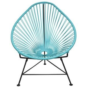 Innit Designs Acapulco Chair In Blue With Black Frame Blue On Black By