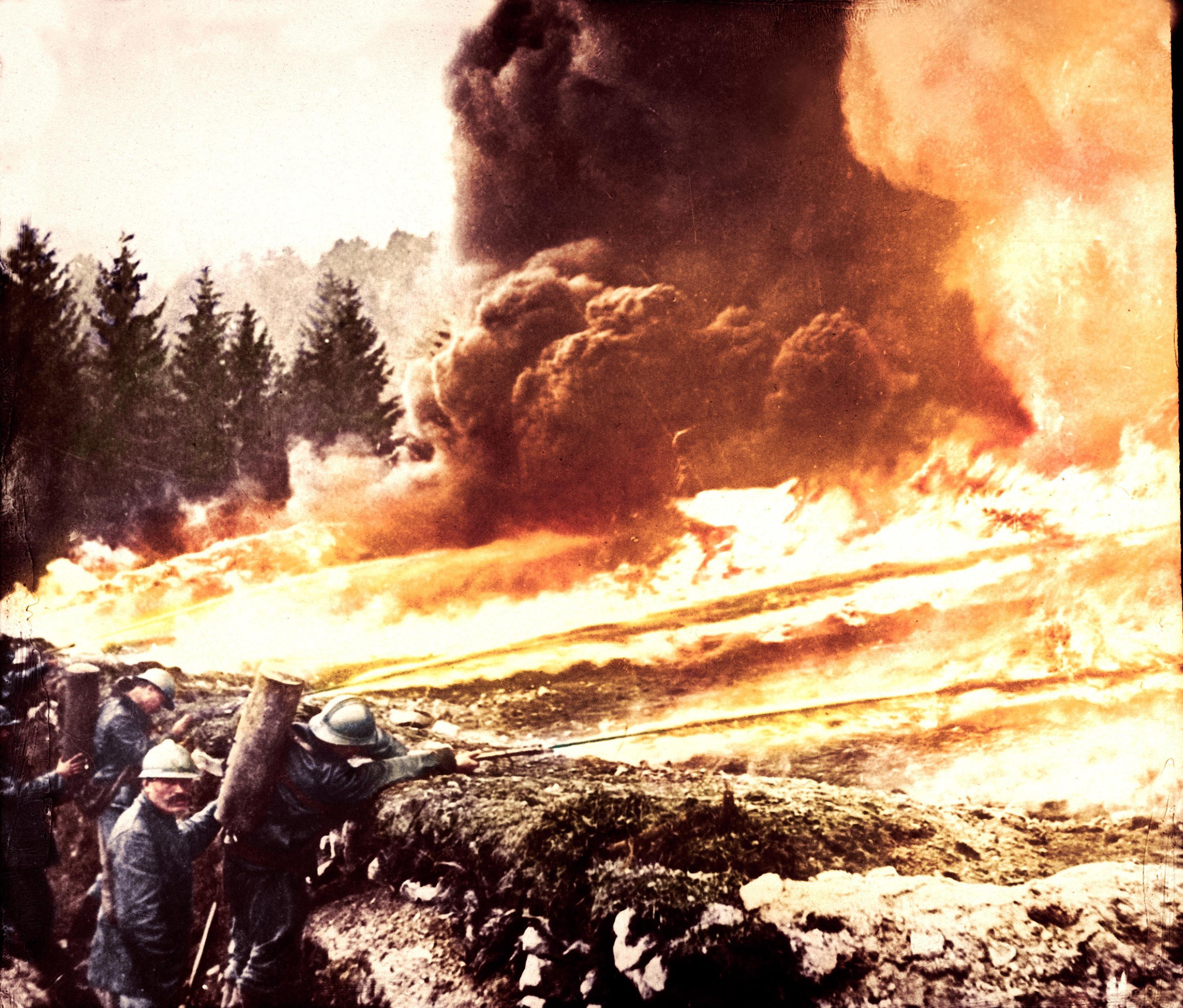 French Flamethrowers In Verdun 1916 Colorized 2946x2511 Verdun Ww1 Photos World War