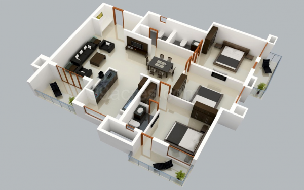 25 Three Bedroom House Apartment Floor Plans Home Design Software Free Home Design Software Bedroom House Plans