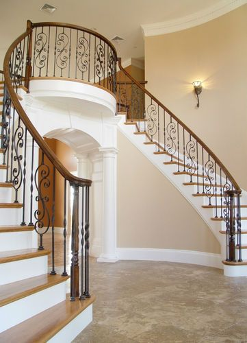Foyer Staircase Options : Fitts stair parts wrought iron balusters options avail