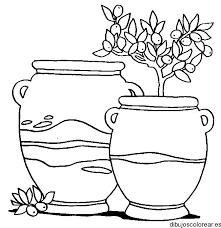 Resultado de imagen para dibujos de jarrones con flores a lapiz