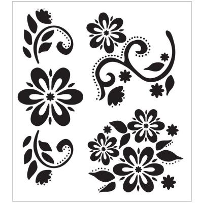 Folkart Debbie S Floral Large Painting Stencils 30599 At The Home