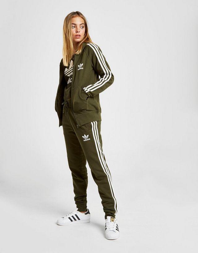 Femme Adidas Veste 3 À Zippée Stripes California Originals Capuche zUVqpSM
