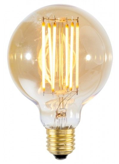 Dimmbare LED Leuchtmittel. Warmes Licht, Wirkt Wie Eine Glühbirne Mit  Goldenen Glühfäden.