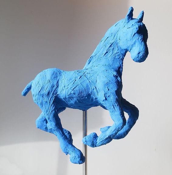 Nuharah - sculpture de cheval par Saône de Stalh