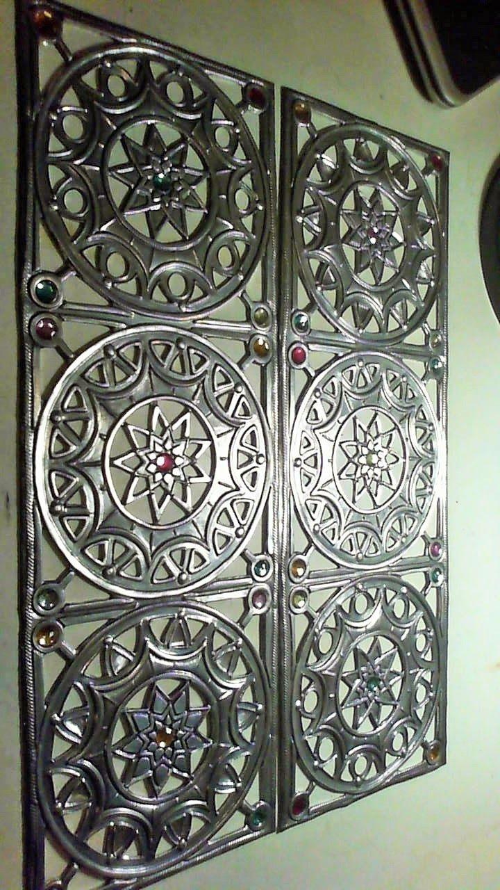 Cabinet Door Panels Part 2 Metal Embossing Pewter Art