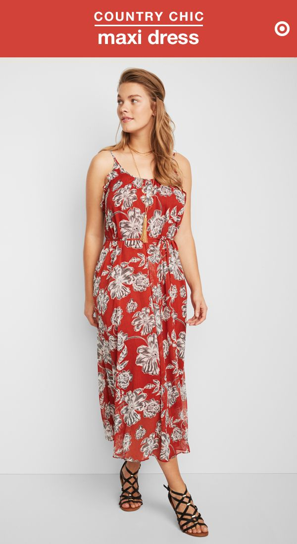 6d3b9772811 This floral maxi dress s deeper hues and earthy tones fit right in at any  vineyard or