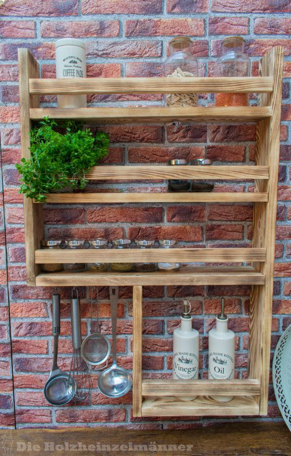 Spice Shelf 2, made of recycled old wood, upcycling | Unbedingt ...