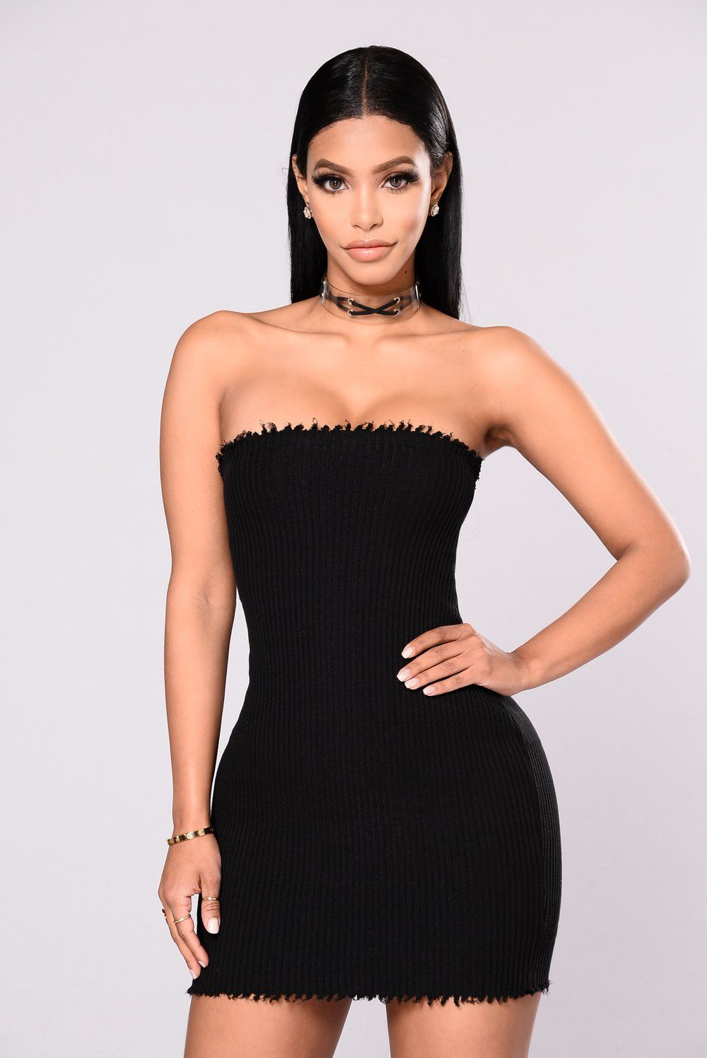 91a608bba0 Evocative Knit Tube Dress - Black in 2019
