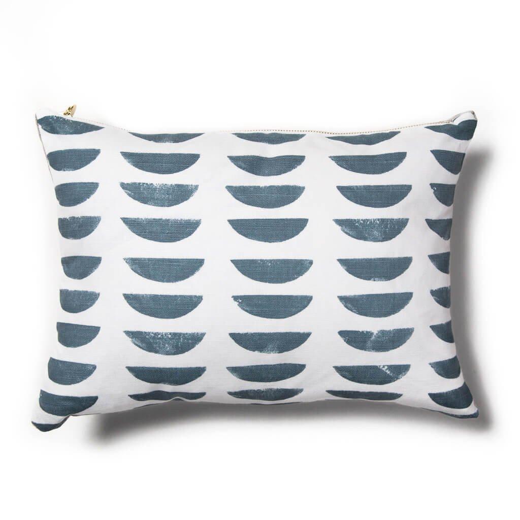 Potato print pillow in blueslate home decorative accents