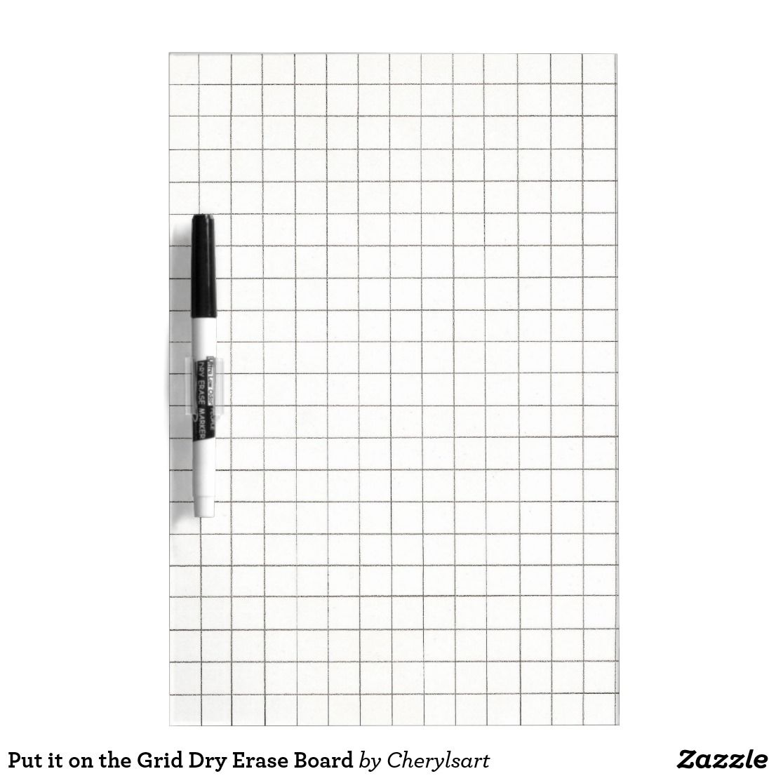 Put It On The Grid Dry Erase Board Zazzle Com In 2020 Dry Erase Board Dry Erase School Gifts