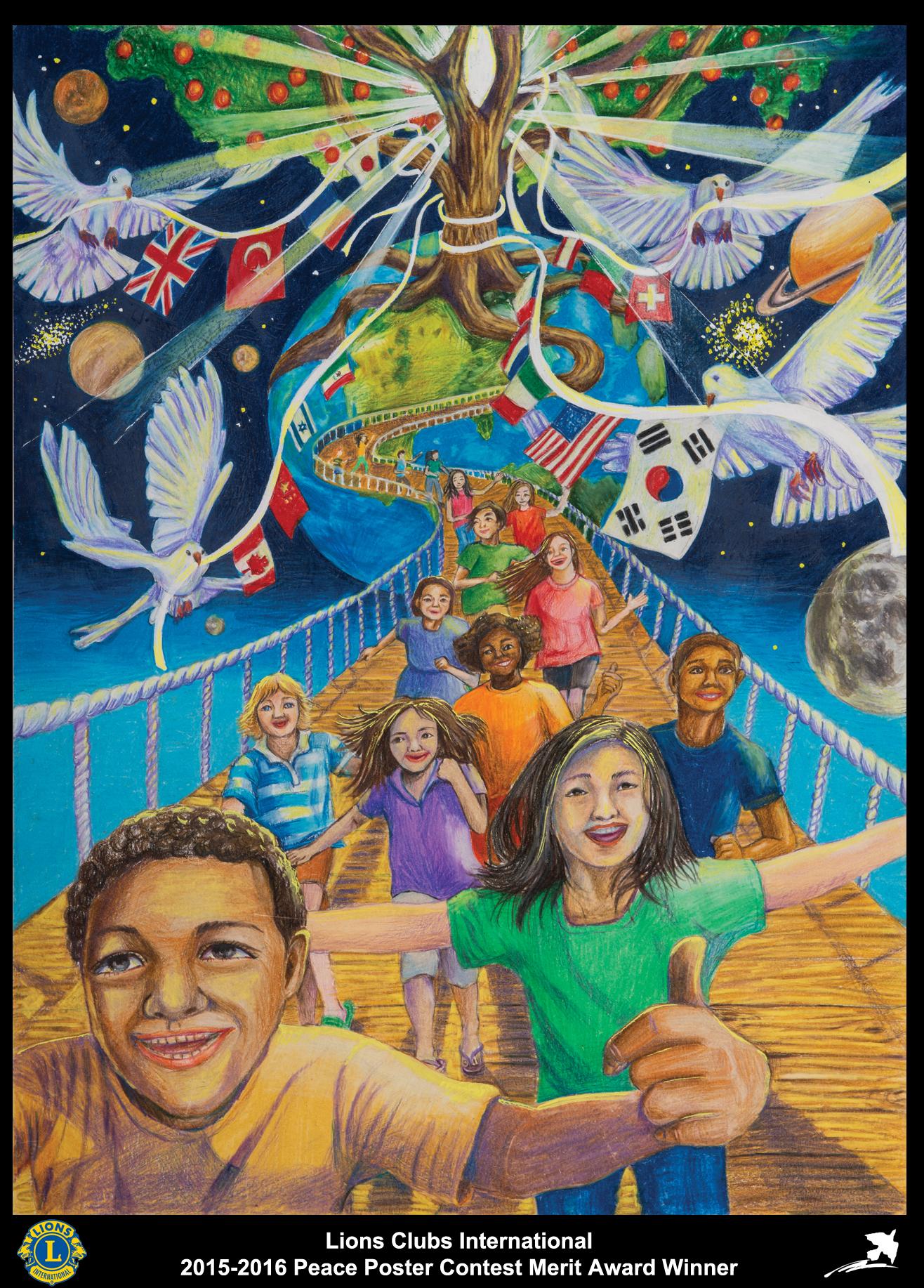 2015 16 Merit Award Winner Jasmin Yoon 13 Years Old Virginia Usa Sponsored By Fairfax Host Lions Club Cizimler Sanat Dersleri Cizim