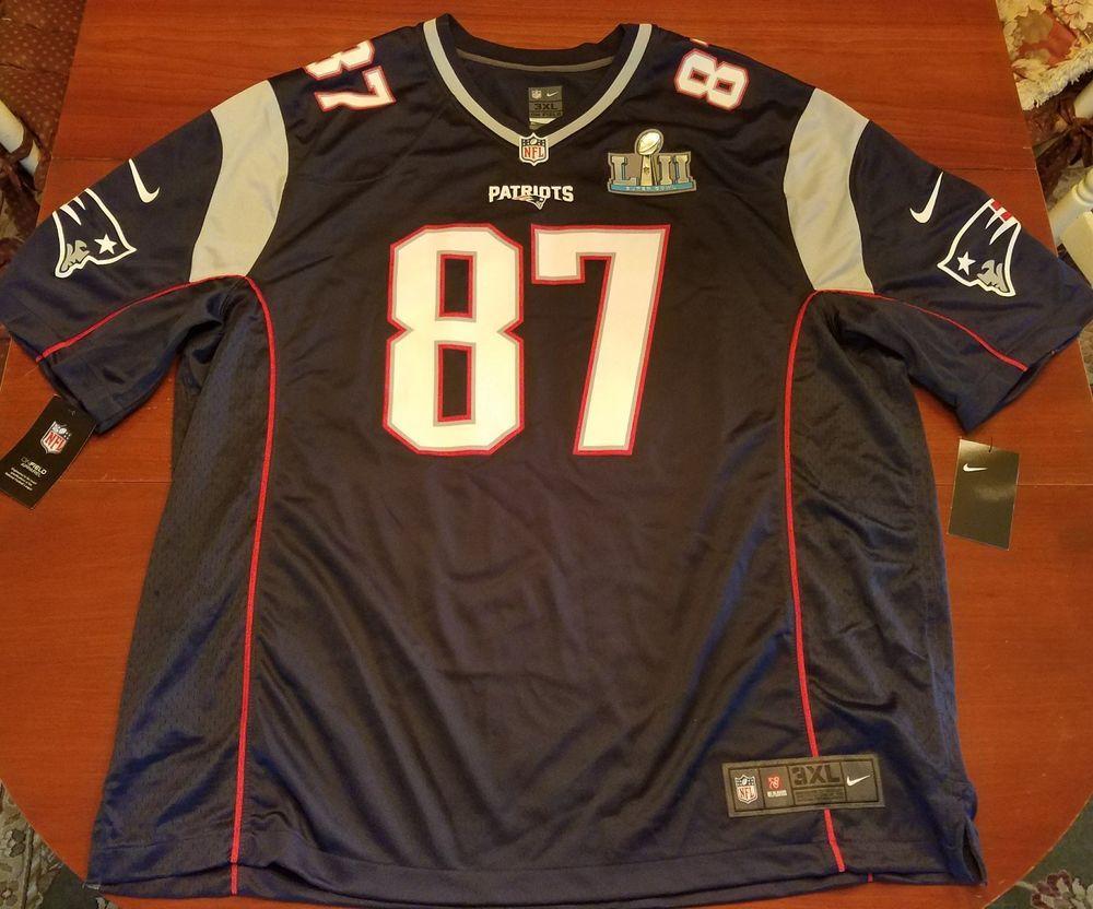 fd0d32f2 Nike New England Patriots ROB GRONKOWSKI Super Bowl 52 Jersey Size ...
