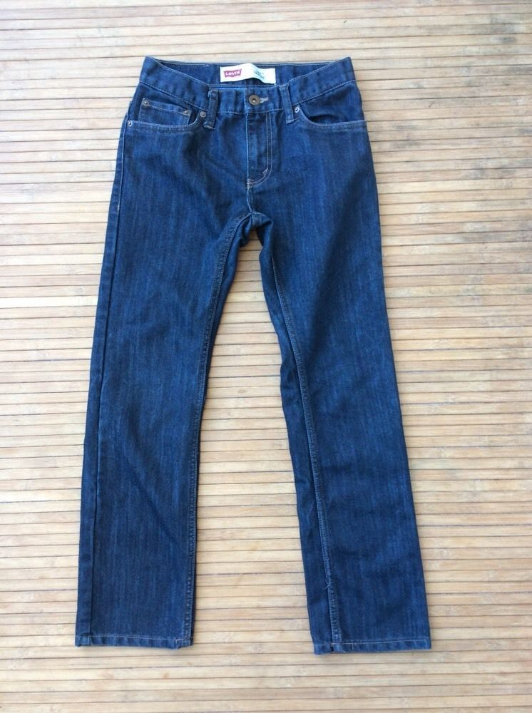 LEVIS STRAUSS Boys Youth Size 14 Regular Denim Blue Jeans 511 Skinny Fit School #Levis #SlimSkinny #Everyday