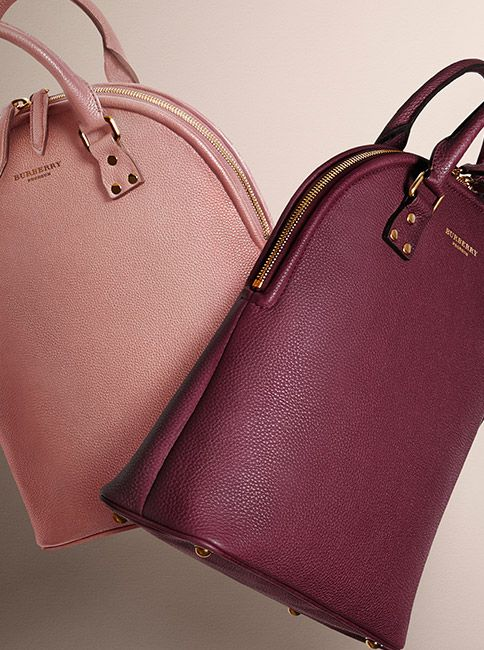 8ba5c8521ee5 The Bloomsbury bag in grainy leather and rich autumnal shades for  Autumn Winter 2014