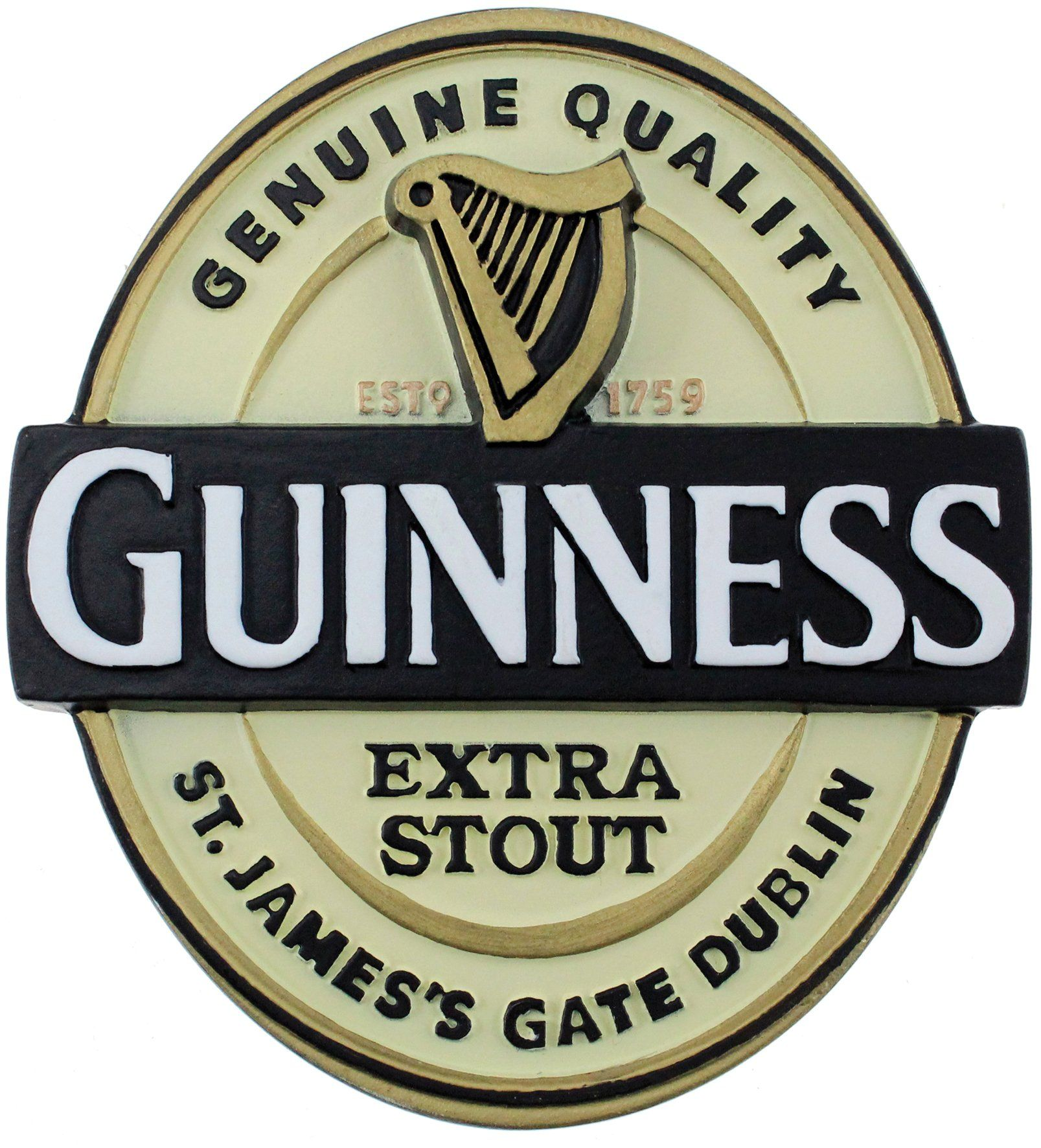 Details about  /Guinness Beer Stout Glass New in Box Embossed Harp Logo