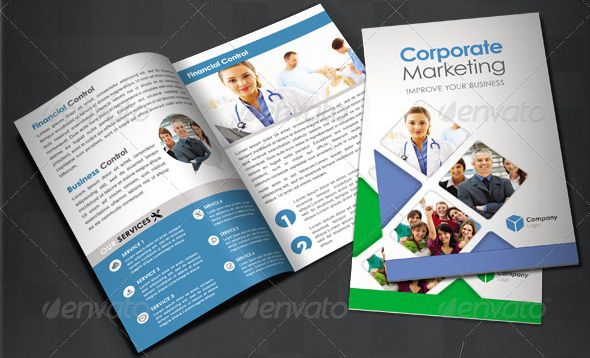 Corporate Bi Fold Brochure Interesting Publishing Projects - Two fold brochure template free