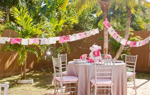 outside baby shower decorations for a girl pink elegant outdoor