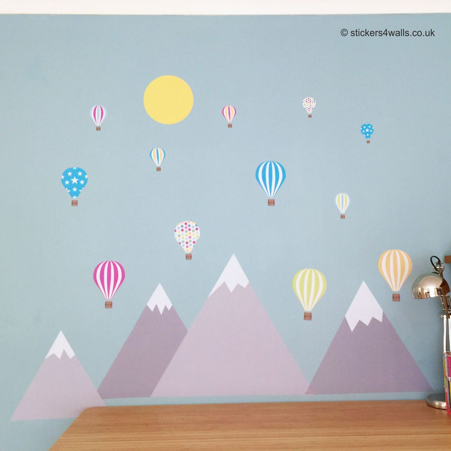 Love These New Mountain And Air Balloon Wall Stickers Made From